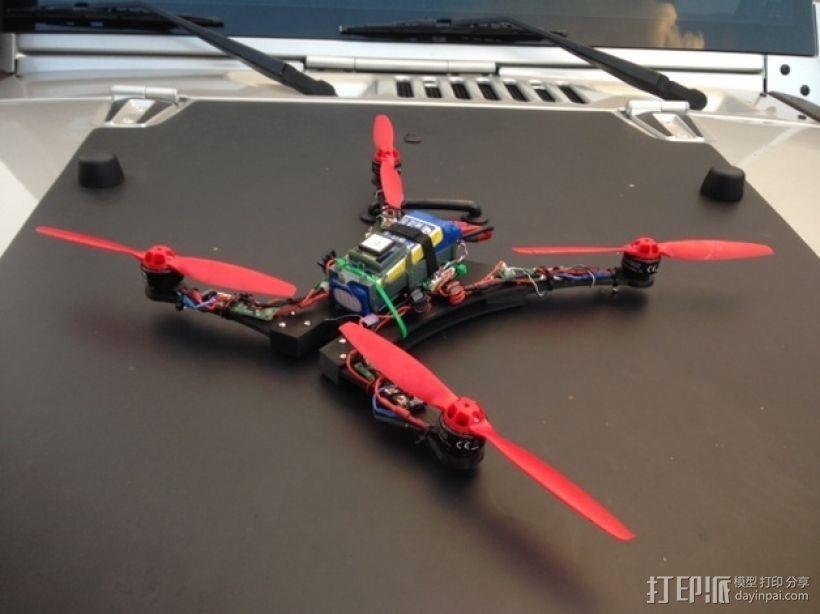 Blade 350QX四轴飞行器框架 3D打印模型渲染图