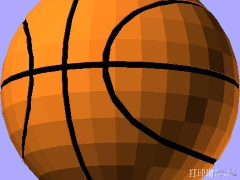 篮球 3D打印模型渲染图