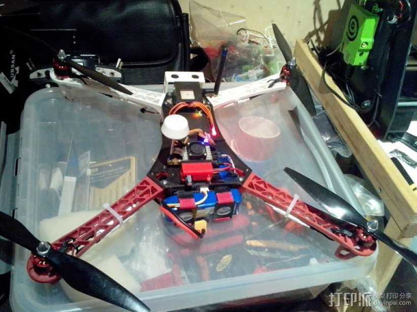 Spyda 500四轴飞行器配件包 3D打印模型渲染图