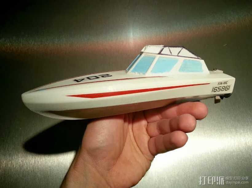 遥控船  3D打印模型渲染图