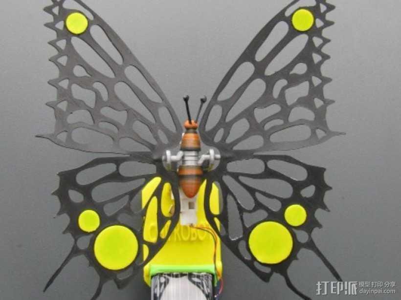 太阳能仿生蝴蝶 3D打印模型渲染图