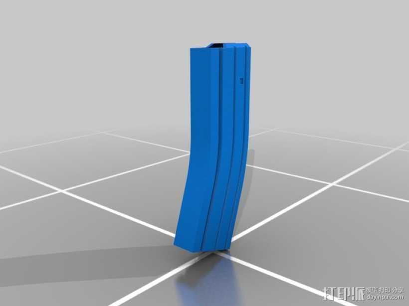M4A1弹匣 3D打印模型渲染图
