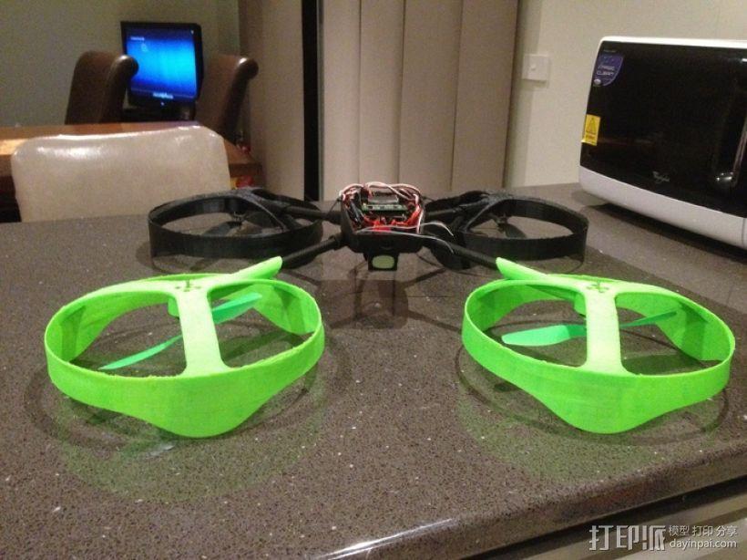 四轴飞行器零部件 3D打印模型渲染图