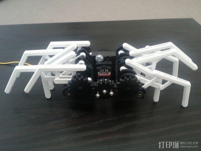 蜘蛛机器人 Spidrack 3D打印模型渲染图