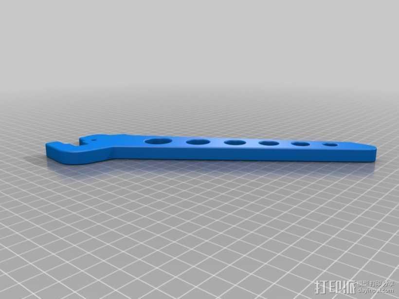 复合弓 单撑 3D打印模型渲染图