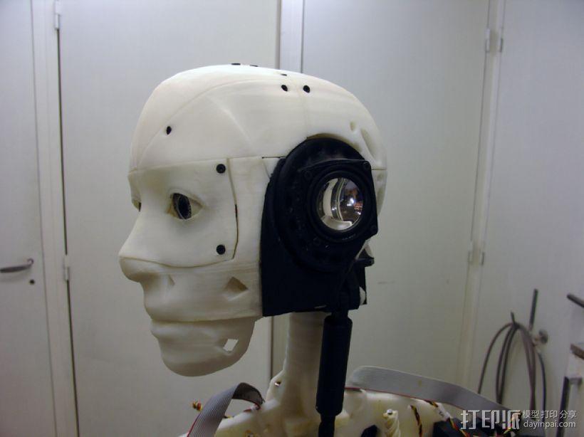 InMoov机器人耳部 3D打印模型渲染图