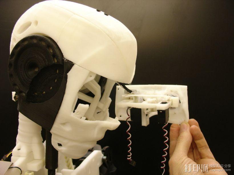 InMoov机器人眼部 3D打印模型渲染图