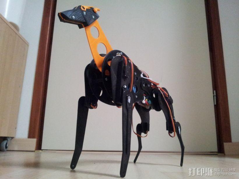 机械狗 3D打印模型渲染图