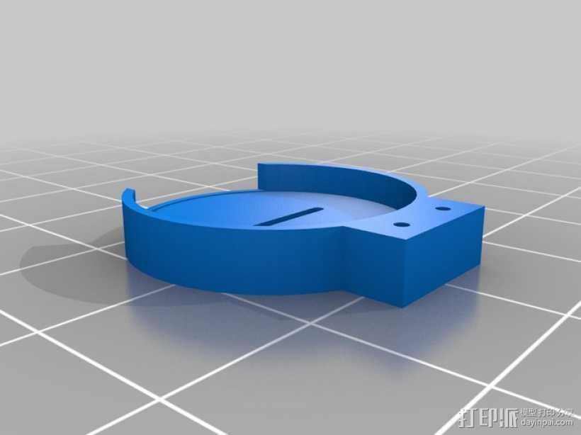 2032电池座 3D打印模型渲染图