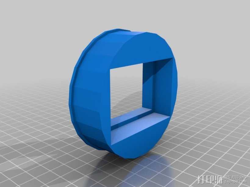 玉米轰炸机管 3D打印模型渲染图