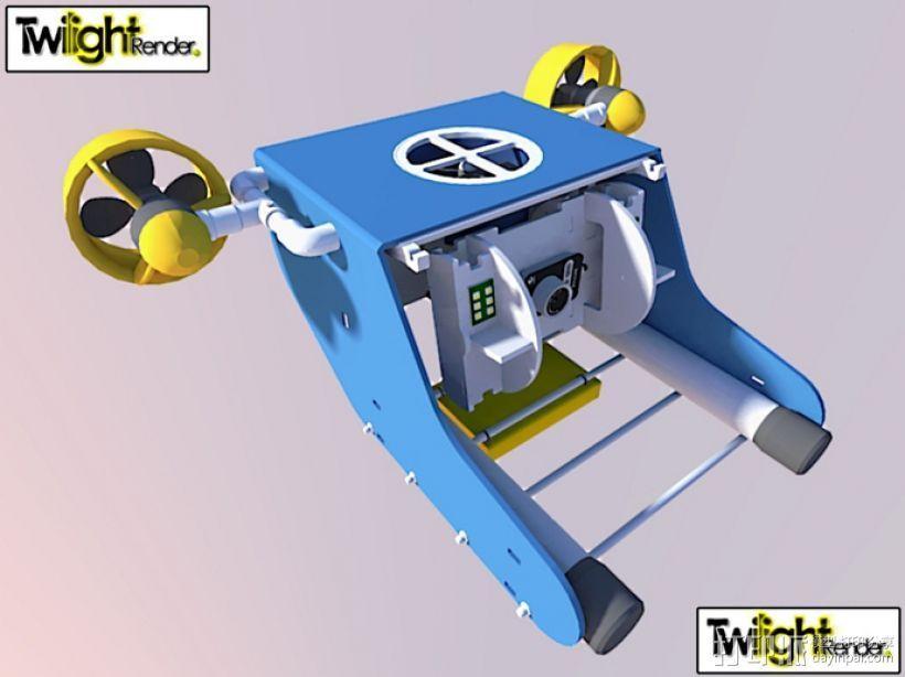 OpenROV水下机器人 3D打印模型渲染图