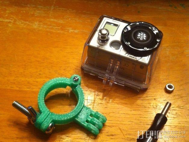 GoPro相机座杆支架 3D打印模型渲染图