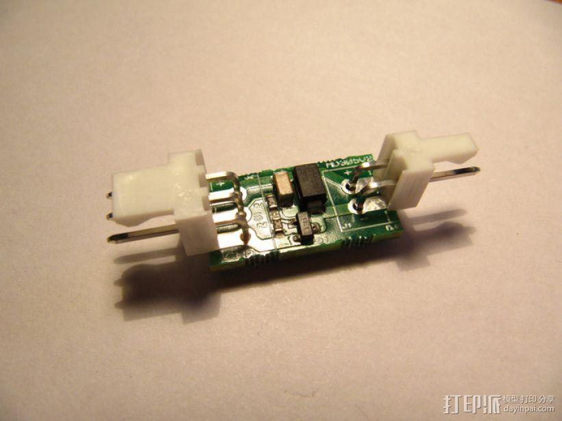 冷却扇MOSFET驱动电路 3D打印模型渲染图