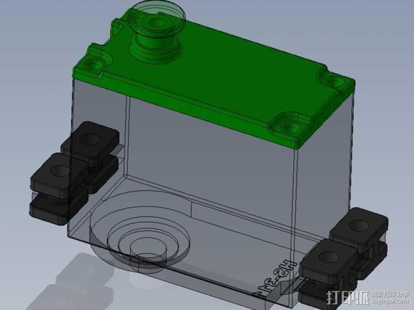 伺服器下端盖 3D打印模型渲染图
