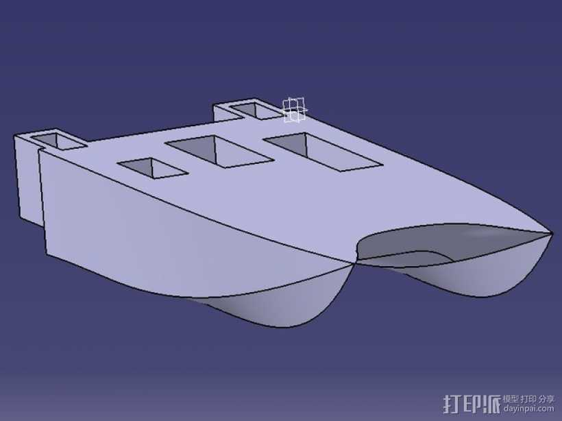 一搜酷炫的船 3D打印模型渲染图