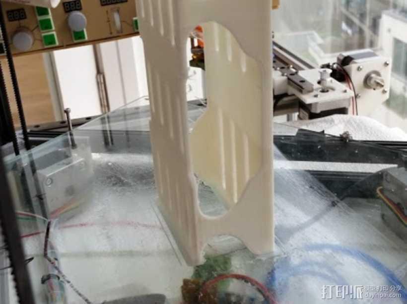 HK450四轴飞行器 电池座 3D打印模型渲染图