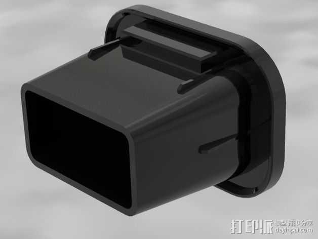 载重梁 后盖盖帽 3D打印模型渲染图