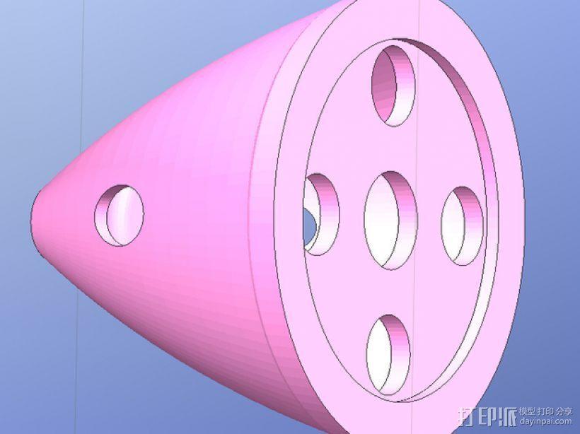 DLE55内燃机零部件 3D打印模型渲染图