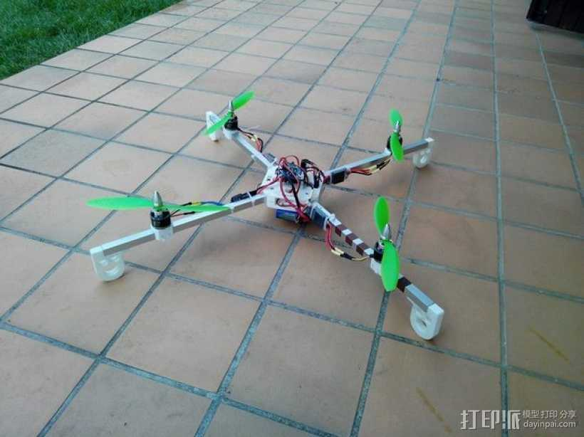 多轴飞行器 发动机架  3D打印模型渲染图