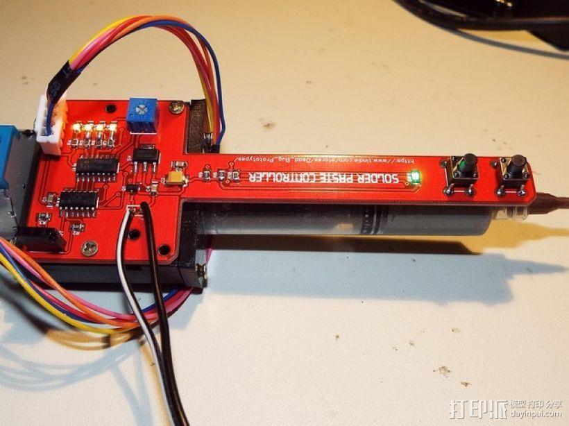 糊状注射器 支架 3D打印模型渲染图