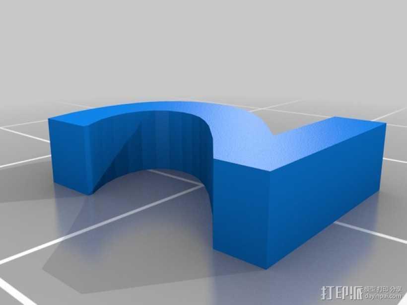 英文字母和数字模型 3D打印模型渲染图