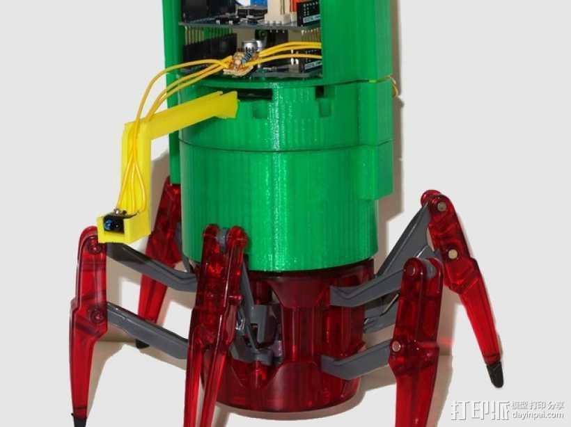 仿生蜘蛛机器人v1.0 3D打印模型渲染图