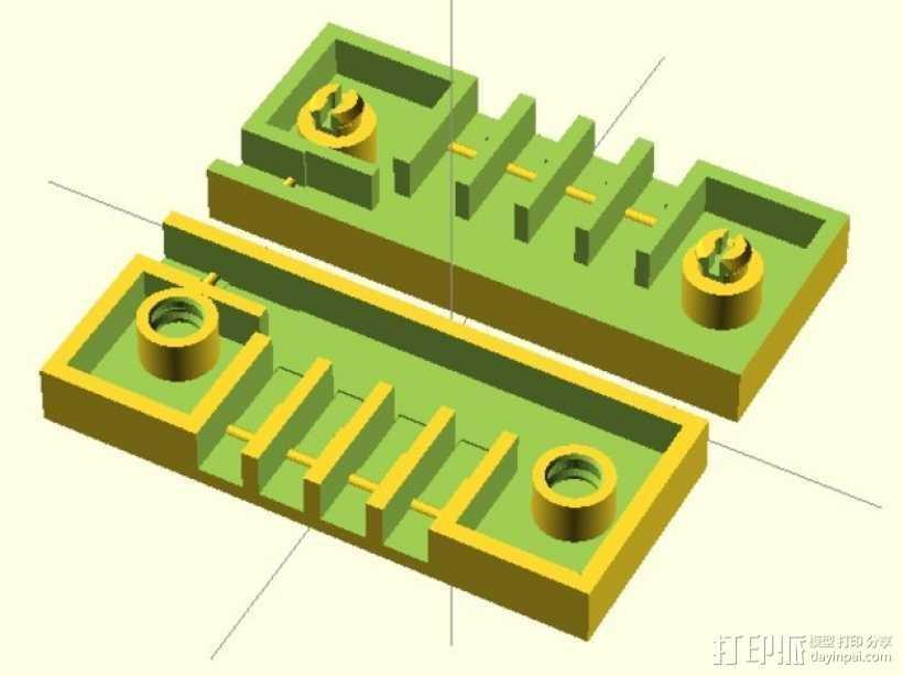 参数化接线盒 3D打印模型渲染图