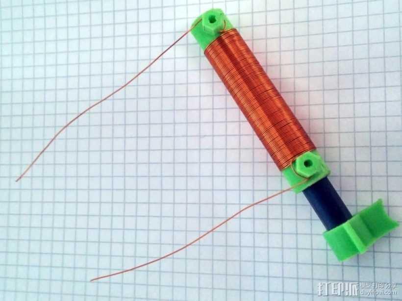 可调节线圈 3D打印模型渲染图