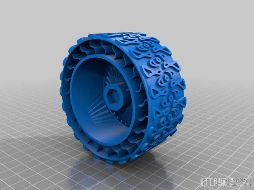 遥控赛车车轮 3D打印模型渲染图