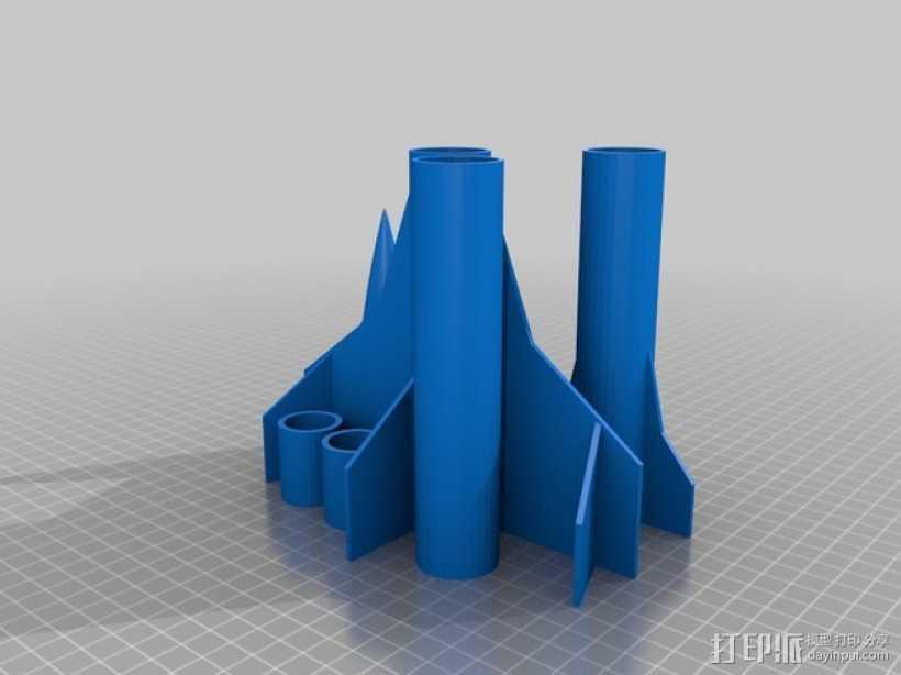 HARP火箭 3D打印模型渲染图
