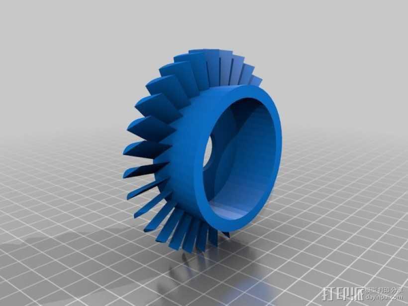 轴流压缩机 3D打印模型渲染图