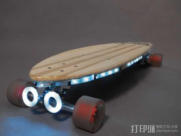 NeoPixel长板LED环 3D打印模型渲染图