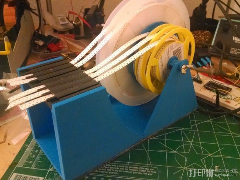 SMD零部件线轴分发器 3D打印模型渲染图
