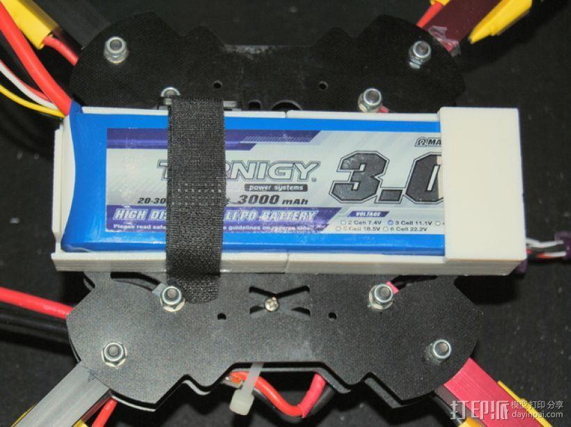 四轴飞行器 电池盒 3D打印模型渲染图