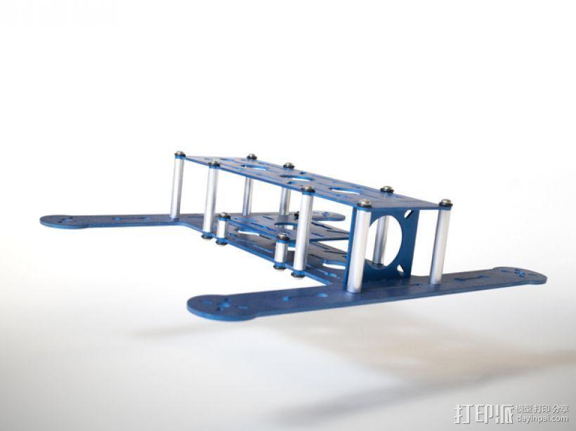 BlueDot四轴飞行器框架 3D打印模型渲染图