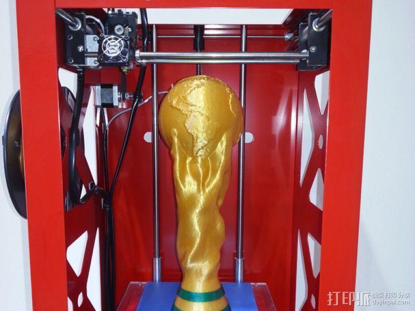 世界杯奖杯  3D打印模型渲染图