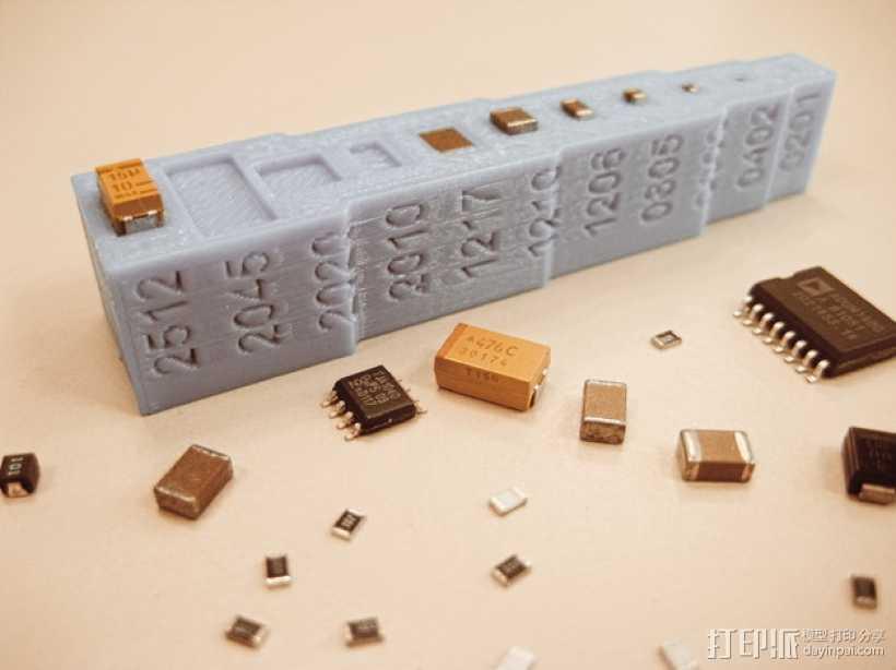 装器件PCB组装成型板 3D打印模型渲染图