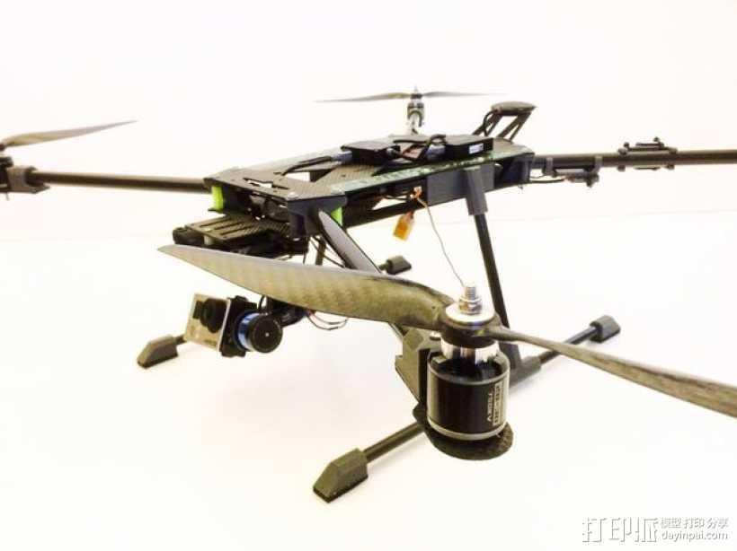 多轴飞行器 3D打印模型渲染图