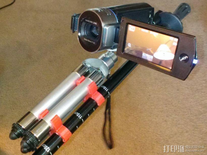 相机三脚架夹 3D打印模型渲染图