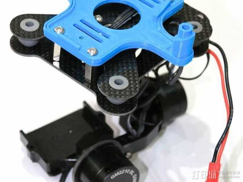 3DR IRIS 3轴常平架支架 3D打印模型渲染图
