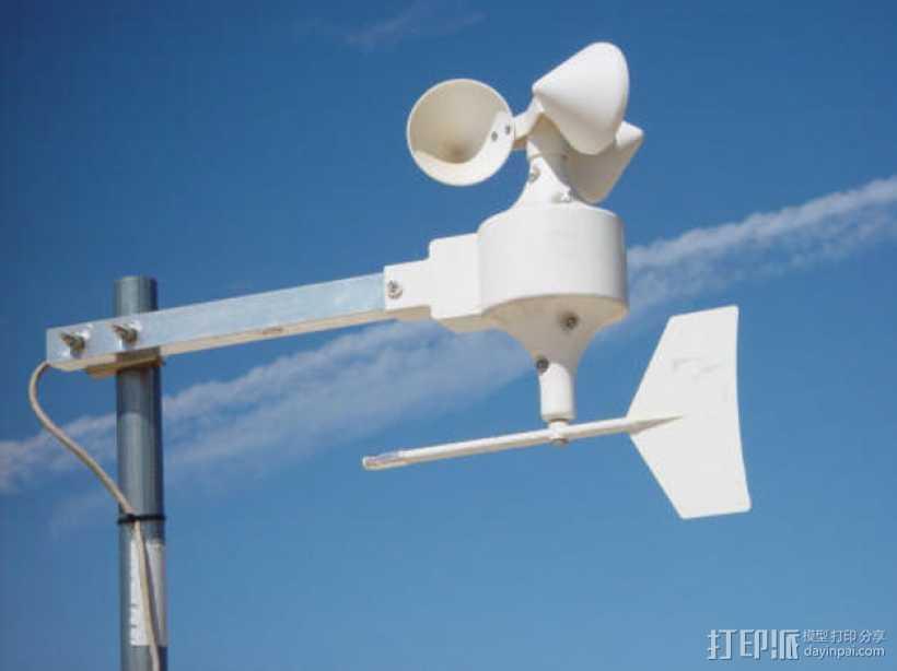 Dallas 1风力气象站零部件 3D打印模型渲染图
