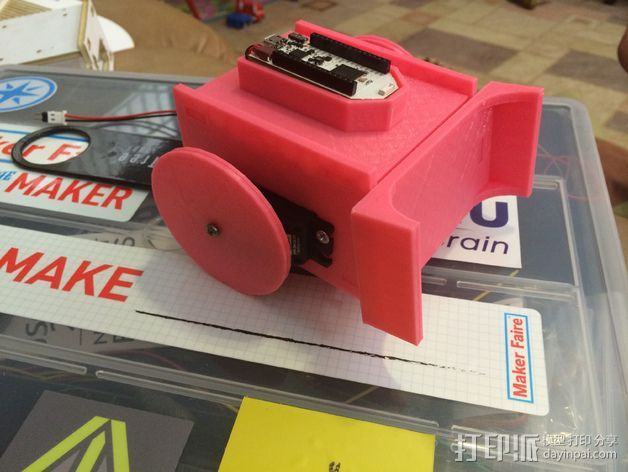 sumobot 机器人套件 3D打印模型渲染图