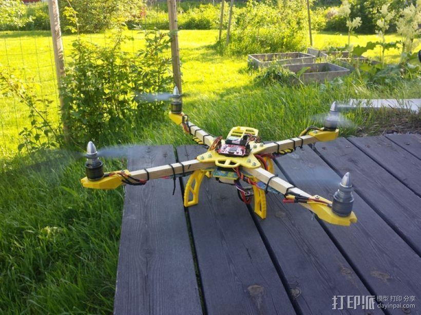 Farlig 550四轴飞行器 3D打印模型渲染图