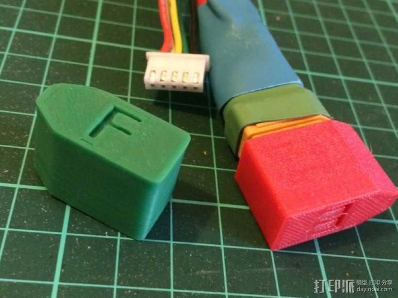 XT-90连接器盖帽 3D打印模型渲染图