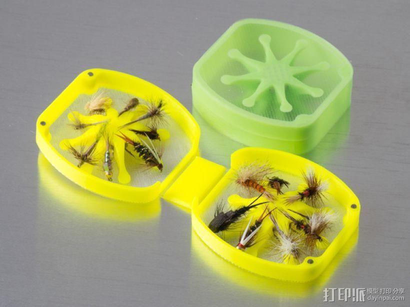飞蝇钓道具盒 3D打印模型渲染图