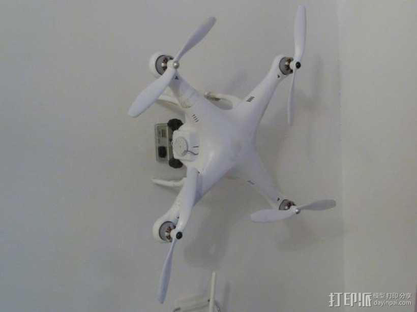 DJI Phantom 1四轴飞行器支架 3D打印模型渲染图
