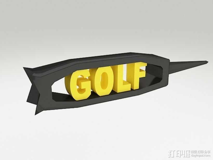高尔夫球钉 3D打印模型渲染图