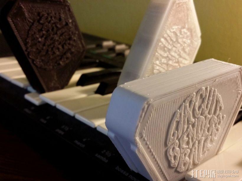 音乐键盘固定装置 3D打印模型渲染图