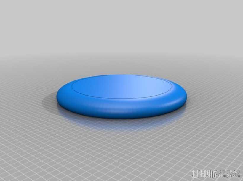 飞盘 3D打印模型渲染图