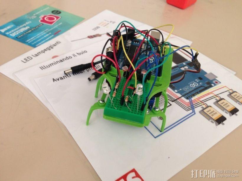 迷你六足机器人 3D打印模型渲染图